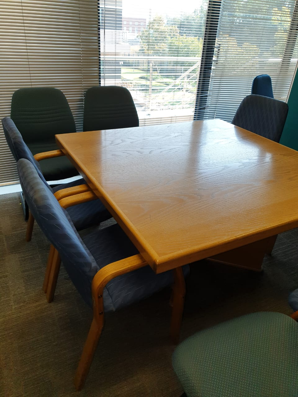 Boardroom - Conference Table Oak square