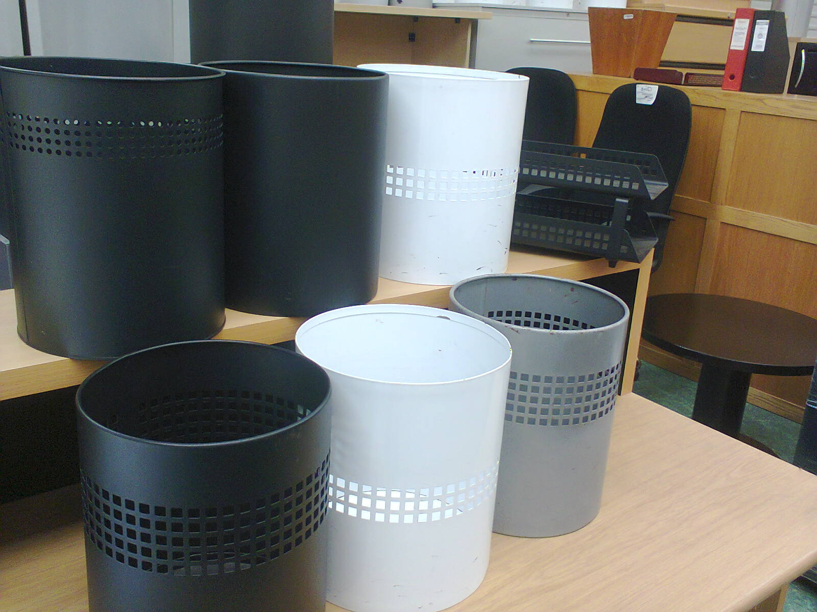 BINS - steel different finishes
