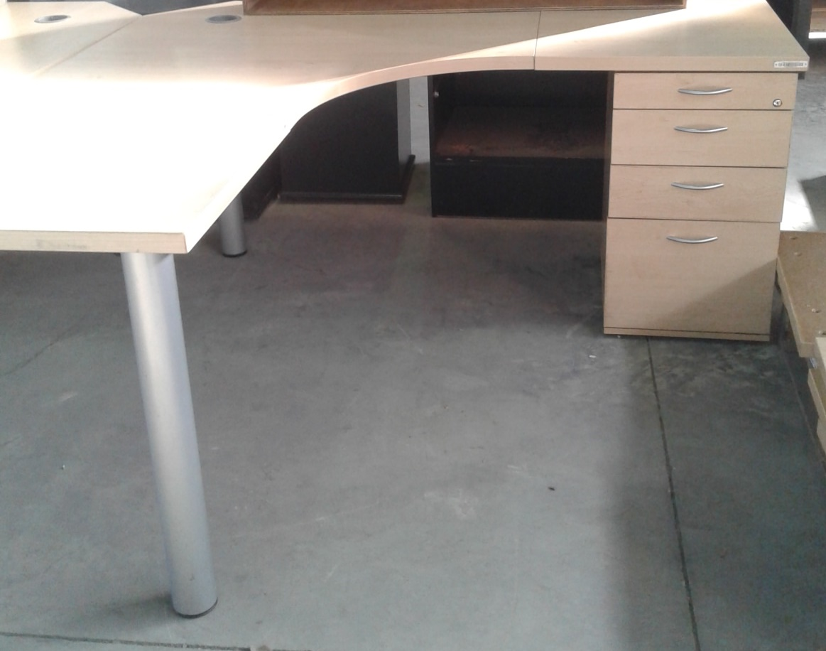 Desks  - Maple L shaped with drawers