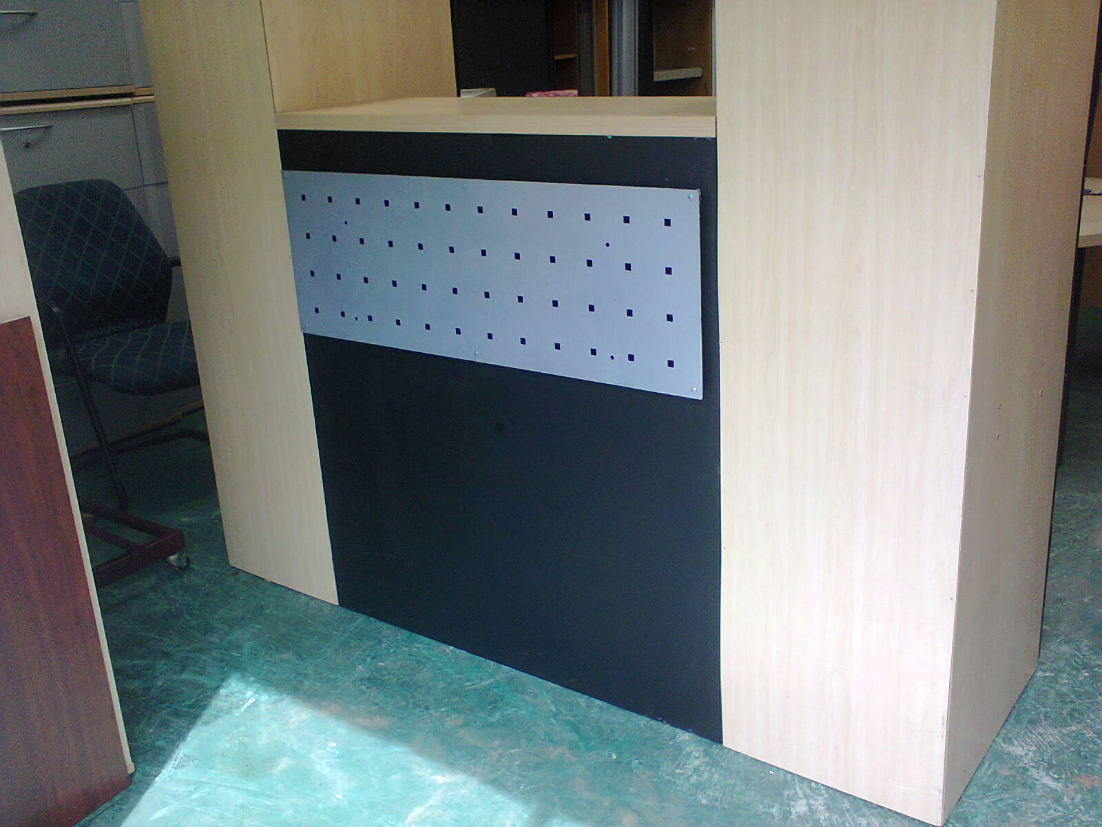 Reception Counter - Maple - black tower