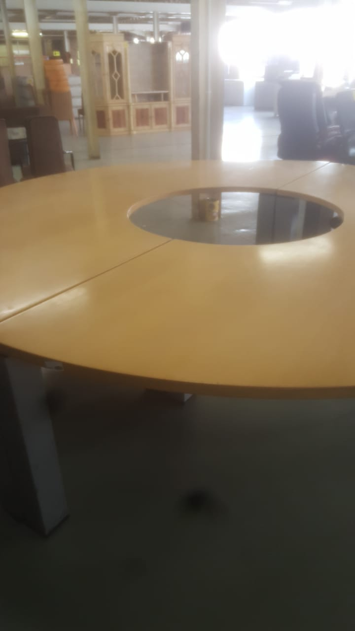 BOARDROOM TABLE - maple donut - 12 seater