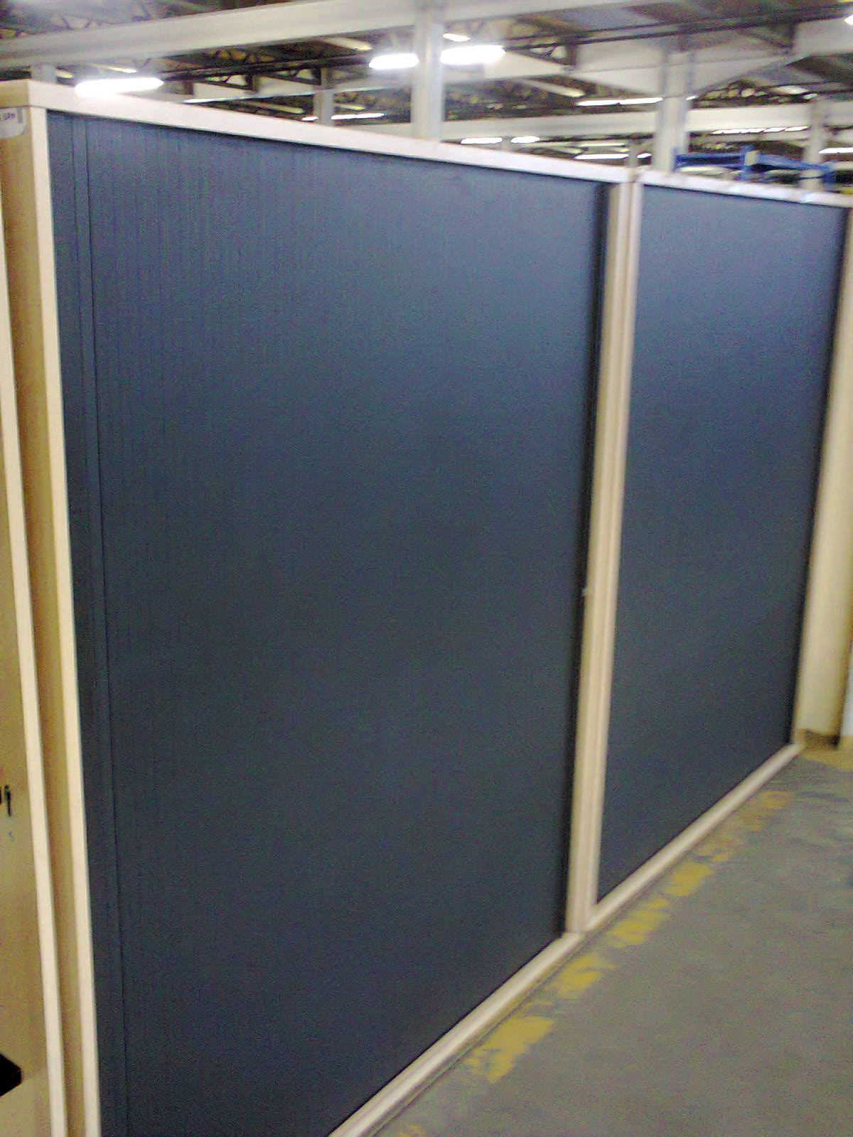 Roller Door Credenzas - maple black roller door