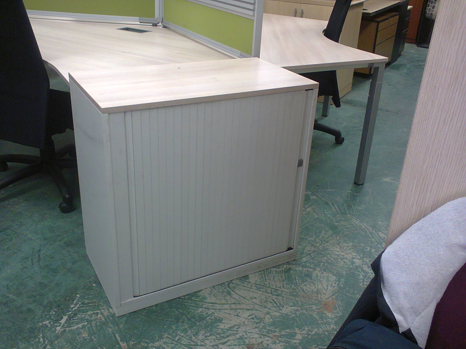 Roller Door Credenzas - Stinkwood Desk Height
