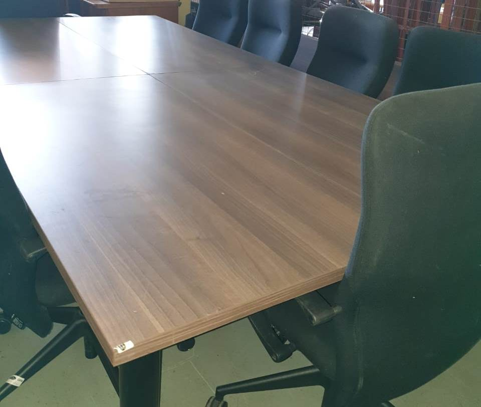 BOARDROOM TABLES - Walnut  10/12 seater